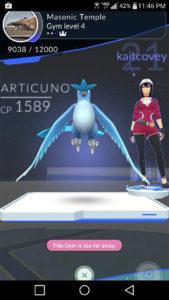 Articuno w Pokemon GO